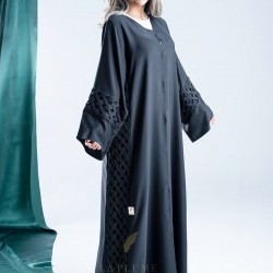 Crepe Abaya with a new and unique design of its kind, handcrafted with very great care AS1002
