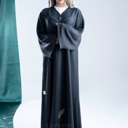 AS1007 Abaya without any details that features a patterned fabric and a comfortable feels