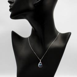Necklace with Swarovski stone N0028