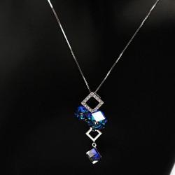 Necklace with Swarovski stone N0031