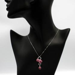 Necklace with Swarovski stone N0032