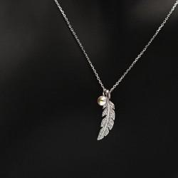 Necklace with Swarovski stone N0037