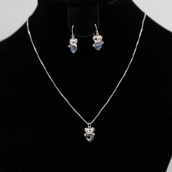 Set Necklace & Earrings with Swarovski stone S7172