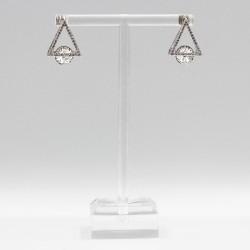 Earrings with Swarovski stone E001