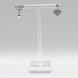 Earrings with Swarovski stone E002