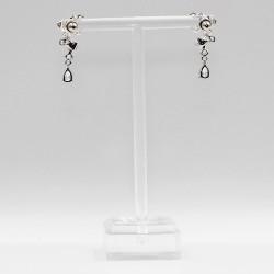 Earrings with Swarovski stone E003