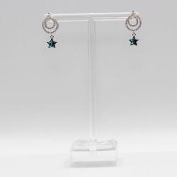 Earrings with Swarovski stone E004